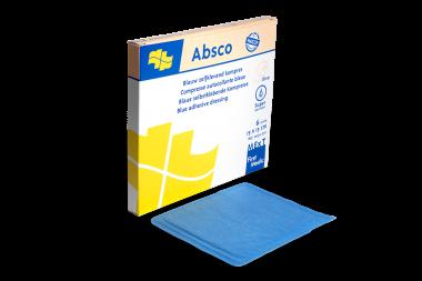 Absco, blauw zelfklevend kompres