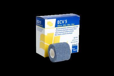 ECV5 blauw, elastisch cohesief verband blauw