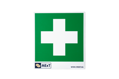 Signalisatie sticker vinyl - EHBO-kruis