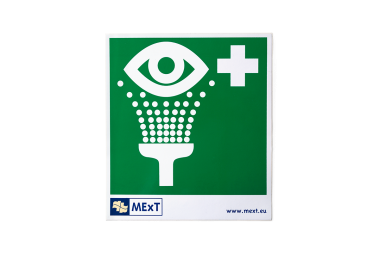 Signalisatie sticker vinyl - oogdouche