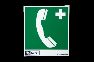 Signalisatie sticker vinyl - telefoon